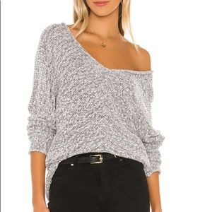 Free People Bright Lights V-Neck Sweater Size S